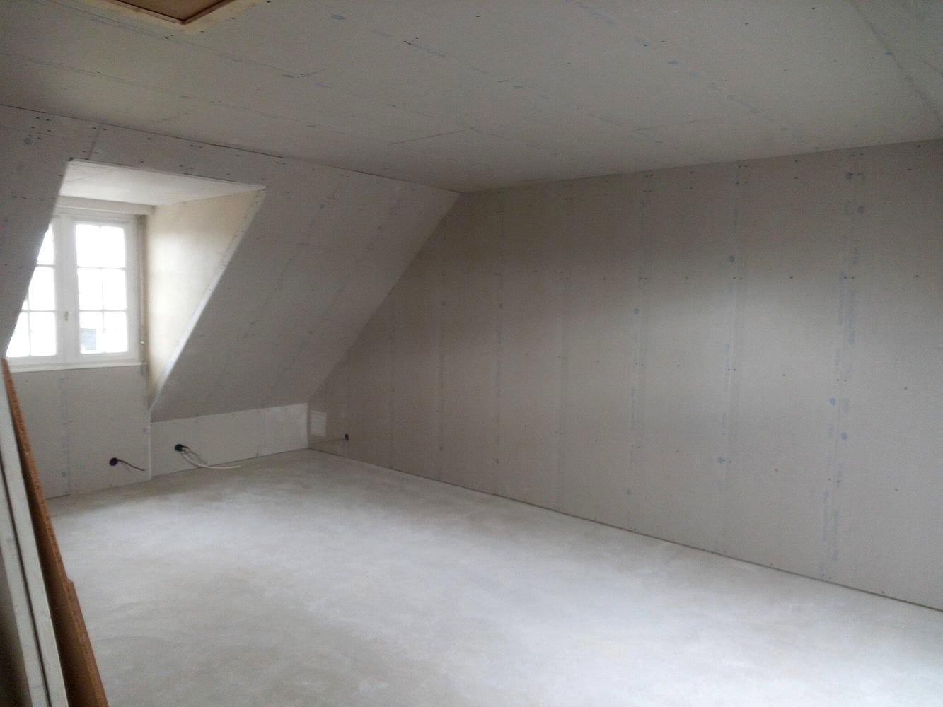Isolation sous rampants de toiture par l'intérieur, après travaux