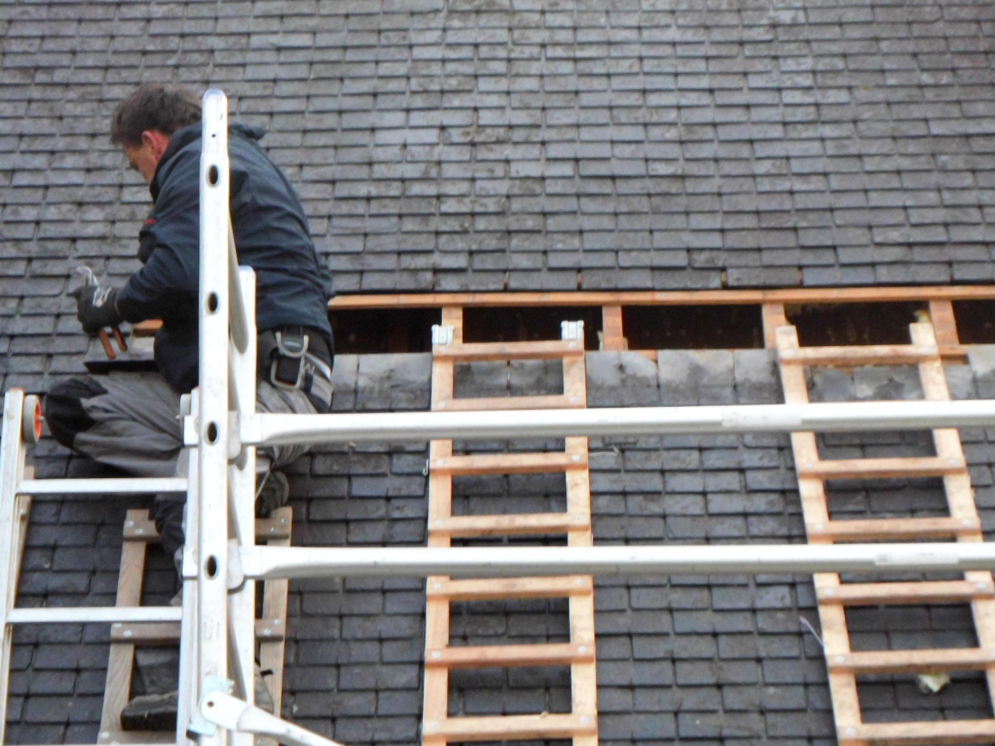 Isolation de toiture par l'extérieur, avant les travaux
