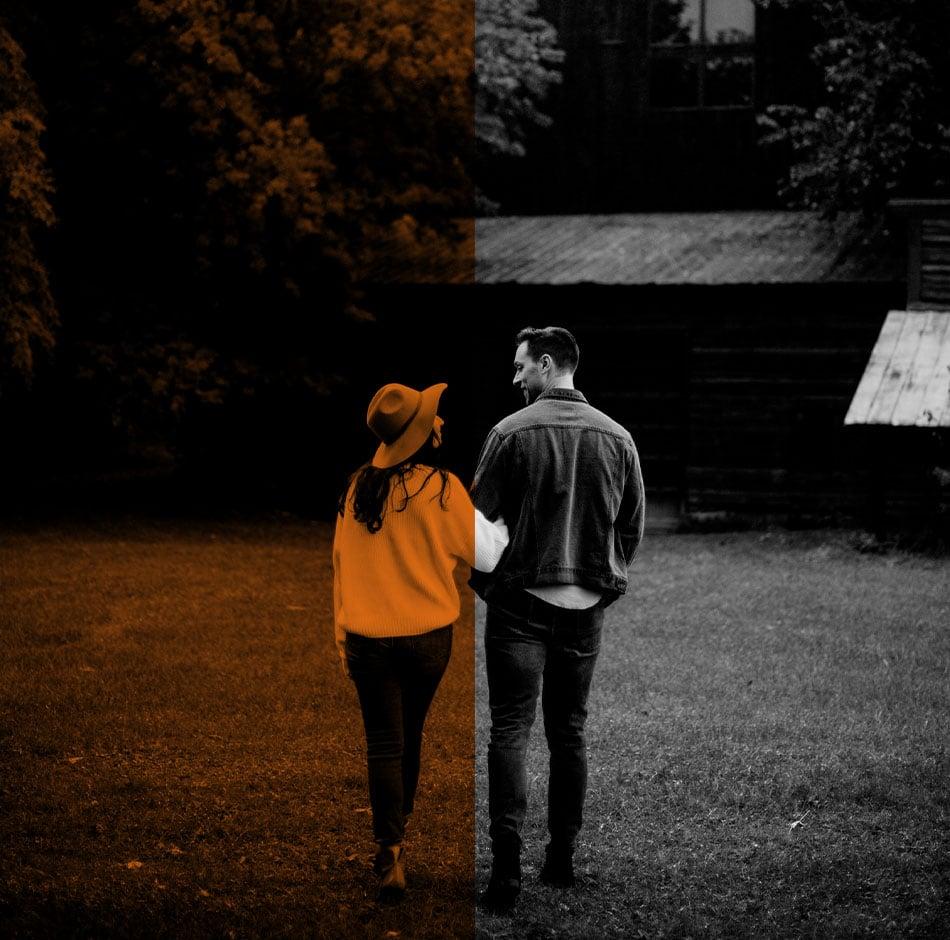 Un couple heureux de leur maison isolation avec Väl
